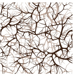 Seamless pattern interlacing of branches vector
