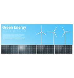 green energy background vector image