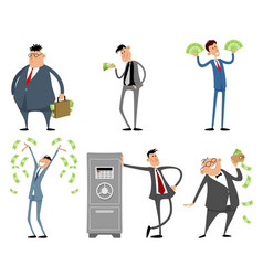 Businessmen with money vector