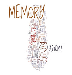 Memory techniques success and money text vector