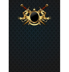 Ornamental shield with arms vector