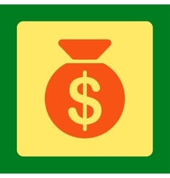 Money bag icon from commerce buttons overcolor set vector