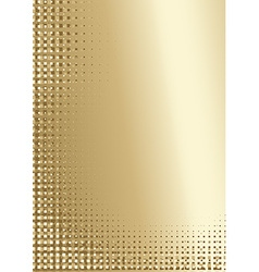 Golden pixelated background vector