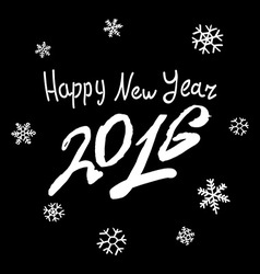 Happy new 2016 year holiday with lettering vector