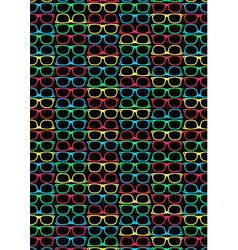 Colored glasses on a black background in a repeat vector