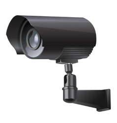 Surveillance camera viewed from the side vector