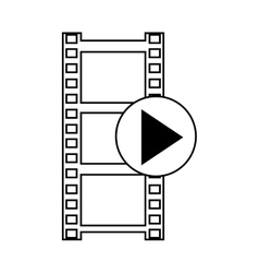 film  over white background vector image