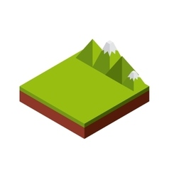 Mountain icon isometric design graphic vector