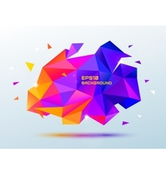 abstract colorful purple and orange faceted vector image