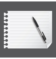 Abstract list blanc with pen vector
