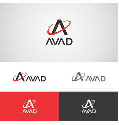 Avad telecom logo vector
