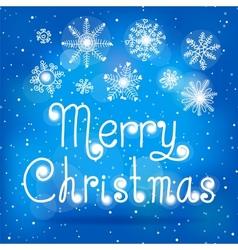 Bright christmas card with snowfall vector