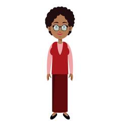 character female memeber family vector image vector image