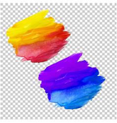 color blots set vector image vector image