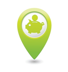 copypig icon green map pointer vector image