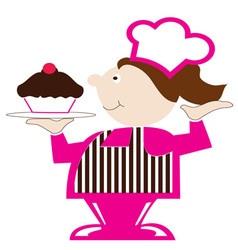 Cupcake Baker vector image vector image