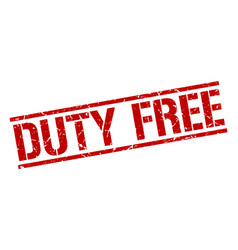 Duty free stamp vector