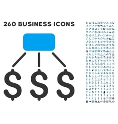 Financial scheme icon with flat set vector