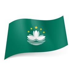 Flag of macau vector