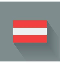 Flat flag of Austria vector image vector image
