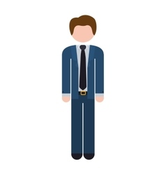 Full body man formal suit blue vector
