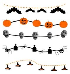 Garland halloween set vector image vector image