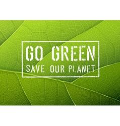 Go green conceptual poster vector