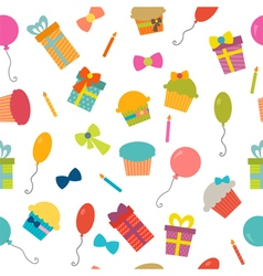 Happy Birthday seamless pattern background for vector image vector image