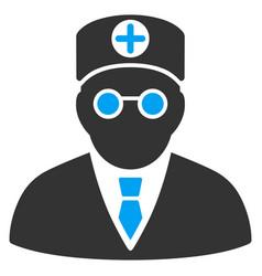 Head physician flat icon vector
