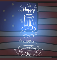 Independence day greeting card style vector