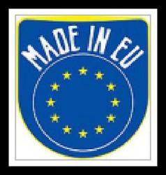 Made in EU sign vector image