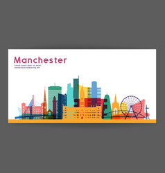 manchester colorful architecture vector image vector image