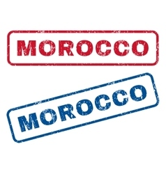 Morocco rubber stamps vector