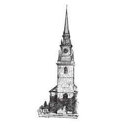 Old north church vintage vector