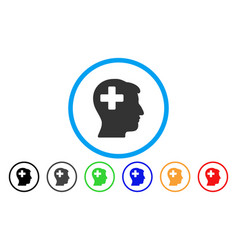 plus man head rounded icon vector image vector image