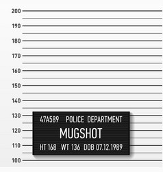 police mugshot add a photo centimeters vector image vector image