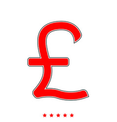 pound sterling it is icon vector image
