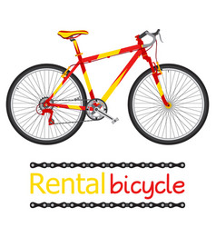 rent bicycle rental bike for tourists in flat vector image vector image