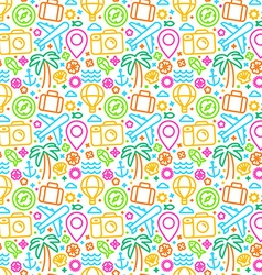 seamless pattern with linear icons vector image vector image