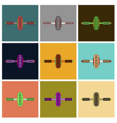 Set of icons in flat design sports simulator vector