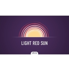 The red light of the sun vector image