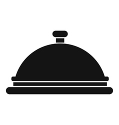 Restaurant cloche icon simple style vector
