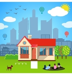 Urban home concept vector