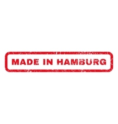 Made in hamburg rubber stamp vector