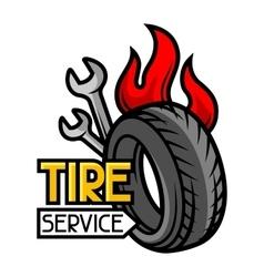 Tire service business repair concept vector