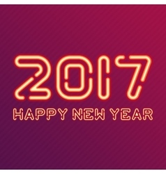 New year design neon figures vector