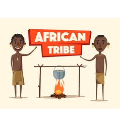 African people indigenous south american cartoon vector