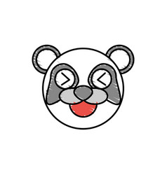 cute panda drawing animal vector image