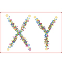 An abstract image of x and y chromosomes vector
