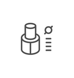 Tube insulation line icon vector